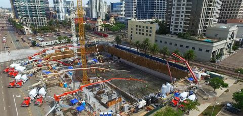Morley Record Concrete Pour – Pacific Gate Mixed-Use
